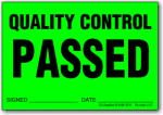 Quality Control Passed adhesive label L127
