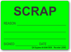 SCRAP adhesive label, green