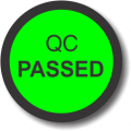 QC Passed adhesive label, green