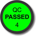 QC Passed 4 adhesive label, green