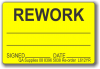 REWORK adhesive label, yellow, removable