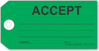 ACCEPT tag, green