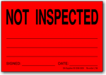 Not Inspected adhesive label L156